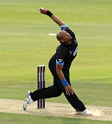 Sussex's Tymal Mills - Photo mandatory by-line: Robbie Stephenson/JMP - Mobile: 07966 386802 - 19/06/2015 - SPORT - Cricket - Southampton - The Ageas Bowl - Hampshire v Sussex - Natwest T20 Blast