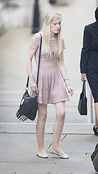© Licensed to London News Pictures. 13/07/2017. London, UK. Connie Yates arrives at The High Court in London. The parents of terminally ill Charlie Gard have returned to the High Court in light of new evidence relating to potential treatment for their son's condition. An earlier lengthy legal battle ruled that Charlie could not be taken to the US for experimental treatment. London, UK. Photo credit: Peter Macdiarmid/LNP
