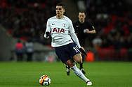 Erik Lamela of Tottenham Hotspur in action. The Emirates FA Cup, 4th round replay match, Tottenham Hotspur v Newport County at Wembley Stadium in London on Wednesday 7th February 2018.<br /> pic by Steffan Bowen, Andrew Orchard sports photography.