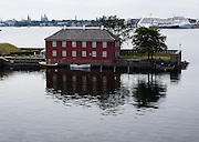 Artificial island, Copenhagen, Denmark