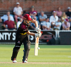 Somerset's James Hildreth defends<br /> <br /> Photographer Simon King/Replay Images<br /> <br /> Vitality Blast T20 - Round 1 - Somerset v Gloucestershire - Friday 6th July 2018 - Cooper Associates County Ground - Taunton<br /> <br /> World Copyright © Replay Images . All rights reserved. info@replayimages.co.uk - http://replayimages.co.uk