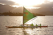Outrigger Sailing Canoe, Kaneohe Bay, Oahu, Hawaii