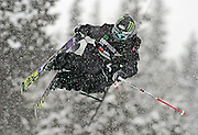 """SHOT 12/18/10 10:48:04 AM - Josiah """"Jossi"""" Wells competes in the Ski Superpipe Finals during the Nike 6.0 Open stop of the Winter Dew Tour at Breckenridge Ski Resort in Breckenridge, Co. The event features ski and snowboard slopestyle and superpipe. (Photo by Marc Piscotty / © 2010)"""