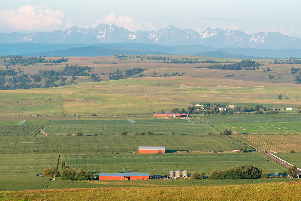Farms in Oregon's Wallowa Valley.