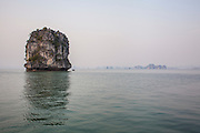 Halong-where the dragon descends into the sea-Bay is comprised of over 2000 islands rising from the emerald waters of the Gulf of Tonkin. It was designated a World Heritage Site in 1994.