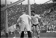 All Ireland Hurling Finals.1986..07.09.1986..09.07.1986..7th September 1986..September,every year,is the highlight of the GAA calendar with The All Ireland Finals being held in both codes. The senior and minor finals in each code are both played for on the same day. Each finalist has battled through provinical and knock out stages to reach the final.It is widely regarded as the pinnacle of a players career to reach and win an All Ireland Championship..In this years hurling finals,Cork played Offaly in the minor championship and a much fancied Galway team took on Cork in the senior final. Both matches were well fought and close encounters...Photograph of a dejected Galway goalkeeper, J Commins, as he turns to retrieve the ball from the net after a cork goal. the packed stands of Croke Park offer a stunning backdrop..Cork emerged triumphant with a score of 4.13 (25) to Galways 2.15 (21).