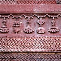 Asia, India, Fatehpur Sikri. Architectural detail at Fatehpur Sikri.