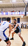 NORTH AUGUSTA, SC. July 10, 2019. Seattle Rotary player locks in on defense at Nike Peach Jam in North Augusta, SC. <br /> NOTE TO USER: Mandatory Copyright Notice: Photo by Alex Woodhouse / Jon Lopez Creative / Nike