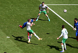 Antoine Griezmann of France scores his first goal of the game for France  - Mandatory by-line: Joe Meredith/JMP - 26/06/2016 - FOOTBALL - Stade de Lyon - Lyon, France - France v Republic of Ireland - UEFA European Championship Round of 16