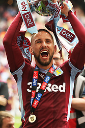 May 27, 2019 - London, England, United Kingdom - Conor Hourihane (14) of Aston Villa holds the play off trophy following his sides win during the Sky Bet Championship Play Off Final between Aston Villa and Derby County at Wembley Stadium, London on Monday 27th May 2019. (Credit Image: © Mi News/NurPhoto via ZUMA Press)