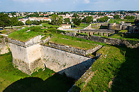 France, Blaye. The Citadel of Blaye at the Gironde estuary.