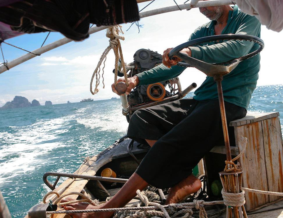 Longboat captain, Phang Nga Bay/Andaman Sea, Thailand.