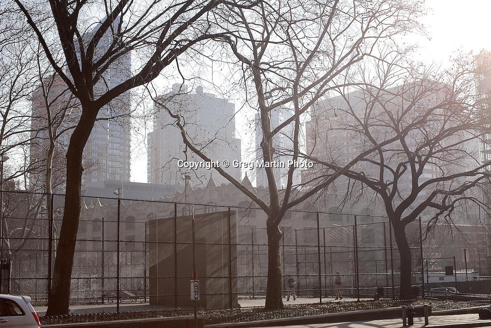 Handball court, Brooklyn, NY, morning