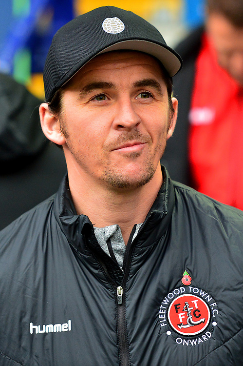 Fleetwood Town manager Joey Barton looks on<br /> <br /> Photographer Richard Martin-Roberts/CameraSport<br /> <br /> The EFL Sky Bet League One - Bolton Wanderers v Fleetwood Town - Saturday 2nd November 2019 - University of Bolton Stadium - Bolton<br /> <br /> World Copyright © 2019 CameraSport. All rights reserved. 43 Linden Ave. Countesthorpe. Leicester. England. LE8 5PG - Tel: +44 (0) 116 277 4147 - admin@camerasport.com - www.camerasport.com