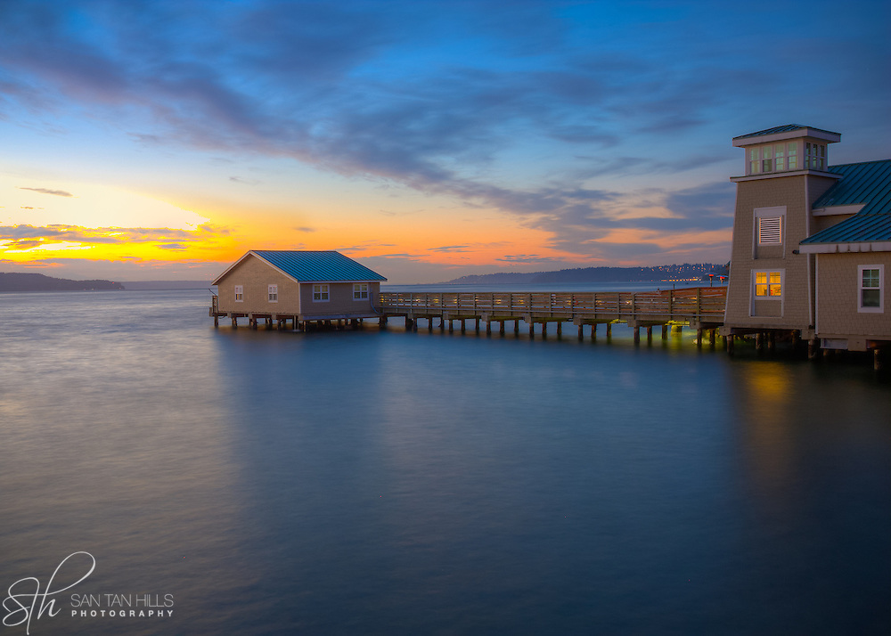 Redondo Beach at dusk - WA