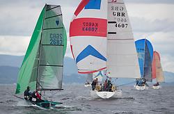 Largs Regatta Week 2017 <br /> <br /> Day 2 Round the Island, 2683, CHERUB, Phil Alderson, Carol Alderson <br /> GBR4607, Leaky Roof II, Harper/Robertson, CCC/Cove SC<br /> <br /> Picture Marc Turner