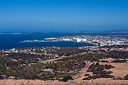 Coastal city of Port Lincoln in South Australia in the Eyre Peninsula