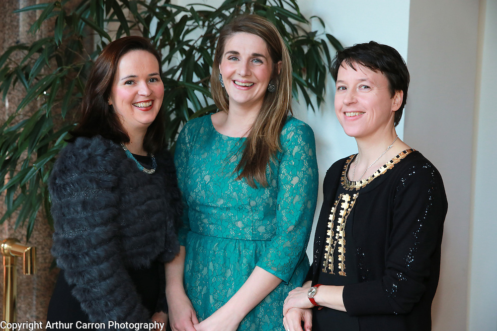 8/4/14 Niamh Mac Nally, Catherine Ryan and Anne Hodge, National Gallery of Ireland at the Hennessy Literary Awards at the Westin Hotel in Dublin. Picture:Arthur Carron