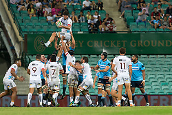 March 23, 2019 - Sydney, NSW, U.S. - SYDNEY, NSW - MARCH 23: Crusaders player Quinten Strange (4) goes up for the ball at round 6 of Super Rugby between NSW Waratahs and Crusaders on March 23, 2019 at The Sydney Cricket Ground, NSW. (Photo by Speed Media/Icon Sportswire) (Credit Image: © Speed Media/Icon SMI via ZUMA Press)