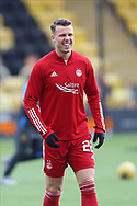 Aberdeen's Florian Kamberi (22) warming up during the Scottish Premiership match between Livingston and Aberdeen at Tony Macaroni Arena, Livingstone, Scotland on 1 May 2021.