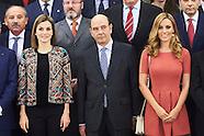 121615 Queen Letizia attends audiences at Zarzuela Palace