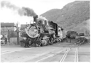 D&SNG #480 crossing 6th St. with Silverton train heading north.<br /> D&SNG  Durango, CO