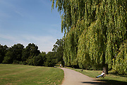 "Hampstead Heath (locally known as ""the Heath"") is a large, ancient London park, covering 320 hectares (790 acres). This grassy public space is one of the highest points in London, running from Hampstead to Highgate. The Heath is rambling and hilly, embracing ponds, recent and ancient woodlands."