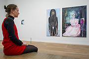 'Great Britain' 1995-7– Dumas's powerful double portrait of Princess Diana and Naomi Campbell (with a small portrait of Amy Winehouse in the background) - A new exhibition of paintings by Marlene Dumas at the Tate Modern opens on 5th Feb. It is one of the most significant displays of her work ever to be held in Europe, bringing together over 100 of her most important and iconic figurative paintings from throughout her career. The three key items/sets are:  'Great Britain' – Dumas's powerful double portrait of Princess Diana and Naomi Campbell, on loan from a private collection; A group of Dumas's iconic large-scale portraits, including friends, family, figures from history and celebrities such as Amy Winehouse; 'Rejects' – a huge grid of 40 powerful black-and-white portrait paintings which Dumas has created over twenty years.
