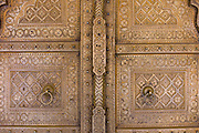 Door to the harem Zenana Deorhi at The Maharaja of Jaipur's Moon Palace  in Jaipur, Rajasthan, India