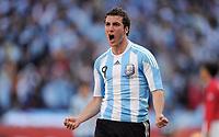 Fotball<br /> VM 2010<br /> 17.06.2010<br /> Argentina v Sør Korea<br /> Foto: Witters/Digitalsport<br /> NORWAY ONLY<br /> <br /> Jubel 2:0 Gonzalo Higuain (Argentien)<br /> Fussball WM 2010 in Suedafrika, Vorrunde, Argentinien - Suedkorea