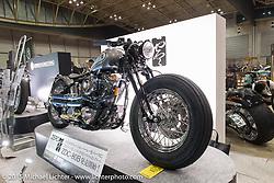 Custom Evolution from Zero Engineering at the Mooneyes Yokohama Hot Rod & Custom Show. Yokohama, Japan. December 6, 2015.  Photography ©2015 Michael Lichter.