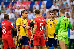 July 7, 2018 - Samara, Russia - 180707 Albin Ekdal of Sweden during the FIFA World Cup quarter final match between Sweden and England on Jul 7, 2018 in Samara..Photo: Ludvig Thunman / BILDBYRÃ…N / kod LT / 92083 (Credit Image: © Ludvig Thunman/Bildbyran via ZUMA Press)