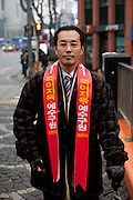 Seoul/South Korea, Republic Korea, KOR, 25.12.2009: Christian preacher on the streets of the Korean capital Seoul.