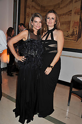 Left to right, NATALIE MASSENET and LUCY YEOMANS at the Harper's Bazaar Women of the Year Awards 2011 held at Claridge's, Brook Street, London on 7th November 2011.