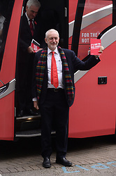 © Licensed to London News Pictures. 21/11/2019. Birmimgham, UK. British Labour party leader Jeremy Corbyn arrives for the launch of the parties General Election Manifesto. Photo credit: Ray Tang/LNP