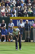 2001 Weetabix Women's British Open, Sunningdale Golf Course, Berks, Great Britain<br />  <br /> [Mandatory Credit Peter Spurrier/Intersport Images]<br /> <br /> Friday 3rd August 2001<br /> <br /> Tish Johnson, putt's on the 13th.