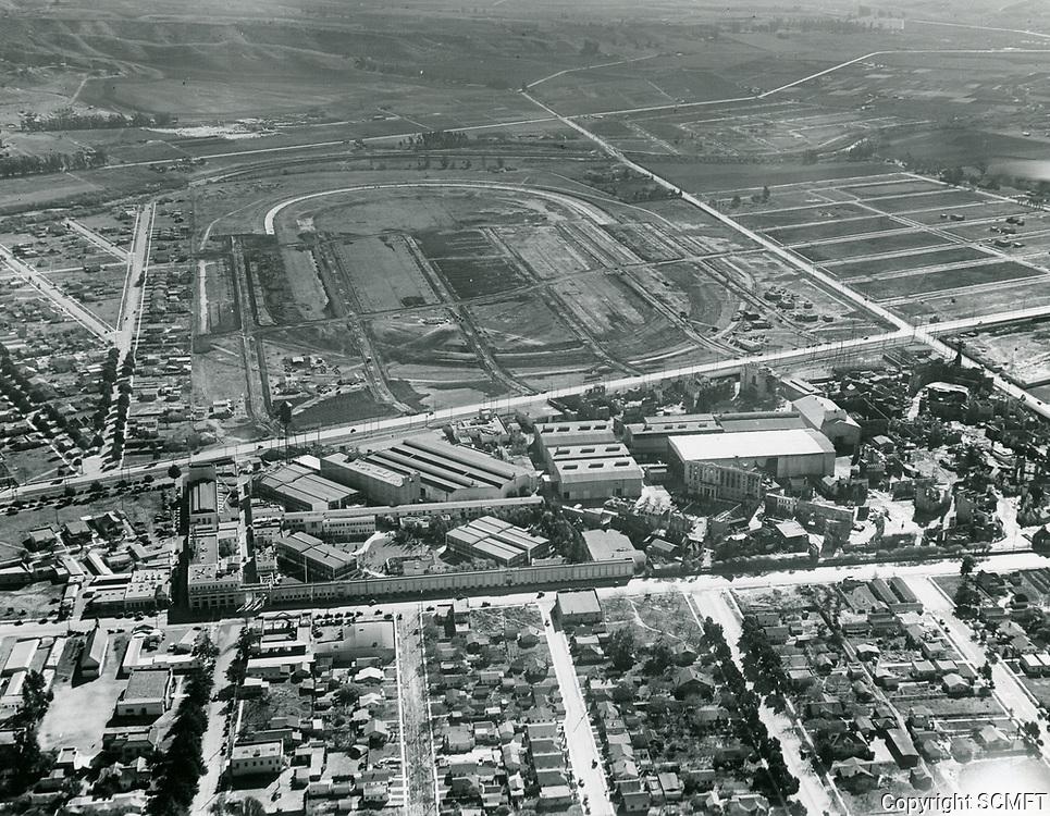 1927 Aerial of MGM Studios & Culver City Speedway