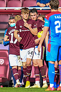 Finlay Pollock (#54)) of Heart of Midlothian FC comes on as a substitute to make his first team debut during the SPFL Championship match between Heart of Midlothian and Inverness CT at Tynecastle Park, Edinburgh Scotland on 24 April 2021.