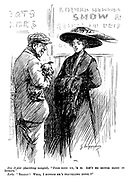 """Dog Dealer (describing mongrel). """"Pure bred un, 'e is. Ain't no better blood in Europe."""" Lady. """"Really! Well, I suppose he's travelling incog.?"""""""