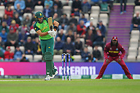 Cricket - 2019 ICC Cricket World Cup - Group Stage: South Africa vs. West Indies<br /> <br /> Aiden Markram of South Africa flicks the ball leg side during the cricket world cup match at the Hampshire Bowl Southampton England<br /> <br /> COLORSPORT/SHAUN BOGGUST
