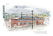 Seattle Sketcher South Lake Union view<br />
