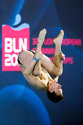 Patrick Hausding of Germany in action in the Mens 10m Platform Preliminary - Photo mandatory by-line: Rogan Thomson/JMP - 07966 386802 - 23/08/2014 - SPORT - DIVING - Berlin, Germany - SSE im Europa-Sportpark - 32nd LEN European Swimming Championships 2014 - Day 11.