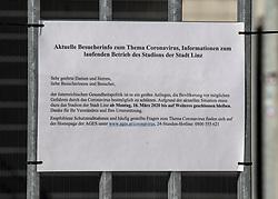 11.04.2020, Linz, AUT, Coronavirus in Österreich, im Bild Olympiazentrum Linz und Stadion der Stadt Linz auf der Gugl geschlossen während der Coronavirus Pandemie // during the World Wide Coronavirus Pandemic in Linz, Austria on 2020/04/11. EXPA Pictures © 2020, PhotoCredit: EXPA/ Reinhard Eisenbauer