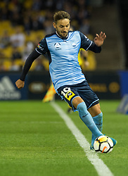 October 7, 2017 - Melbourne, Victoria, Australia - Milos Ninkovic (#10) of Sydney FC tries to keep the ball in play during the round 1 match between Melbourne Victory and Sydney FC at Etihad Stadium in Melbourne, Australia during the 2017/2018 Australian A-League season. (Credit Image: © Theo Karanikos via ZUMA Wire)