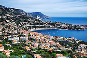 Aerial view of the French commune of Saint Jean Cap Ferrat, French Riviera, Côte d'Azur, France, Europe