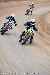 Vintage Motorcycle Races at the Sturgis half mile track during the annual Sturgis Black Hills Motorcycle Rally. Sturgis, SD. USA. Saturday August 5, 2017. Photography ©2017 Michael Lichter.