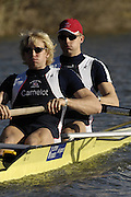 Seville. SPAIN, 18.02.2007, GBR M2- stroke Andy TRIGGS HODGE and Peter REED, move away from the start pontoon during Sunday morning's  heats, at the FISA Team Cup, held on the River Guadalquiver course. [Photo Peter Spurrier/Intersport Images]    [Mandatory Credit, Peter Spurier/ Intersport Images]. , Rowing Course: Rio Guadalquiver Rowing Course, Seville, SPAIN,