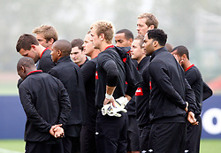 08.10.2010, Arsenal Training Ground, London, ENG, Qualifing UEFA Euro 2012, training England, im Bild England players listing to Fabio Capello Head Coach ( Manager ) of England.England Training.EXPA Pictures © 2010, PhotoCredit: EXPA/ IPS/ Kieran Galvin +++++ ATTENTION - OUT OF ENGLAND/UK +++++