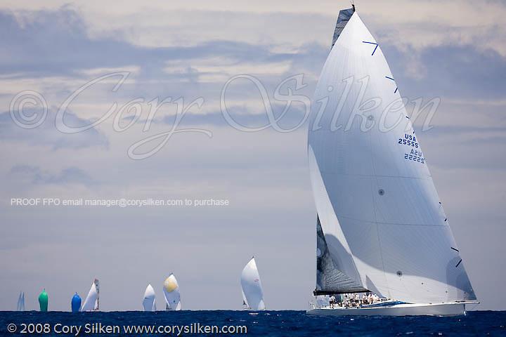 Rambler sailing Race 4 at Antigua Sailing Week.