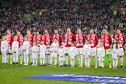 November 15, 2018 - Gdansk, Pomorze, Poland - Poland national football team soccer match between Poland and Czech Republic at Energa Stadium in Gdansk, Poland on 15 November 2018  (Credit Image: © Mateusz Wlodarczyk/NurPhoto via ZUMA Press)